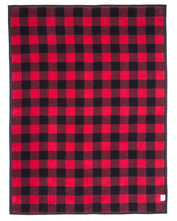 Chappy Wrap Buffalo Check Red Plaid Blanket And Throw